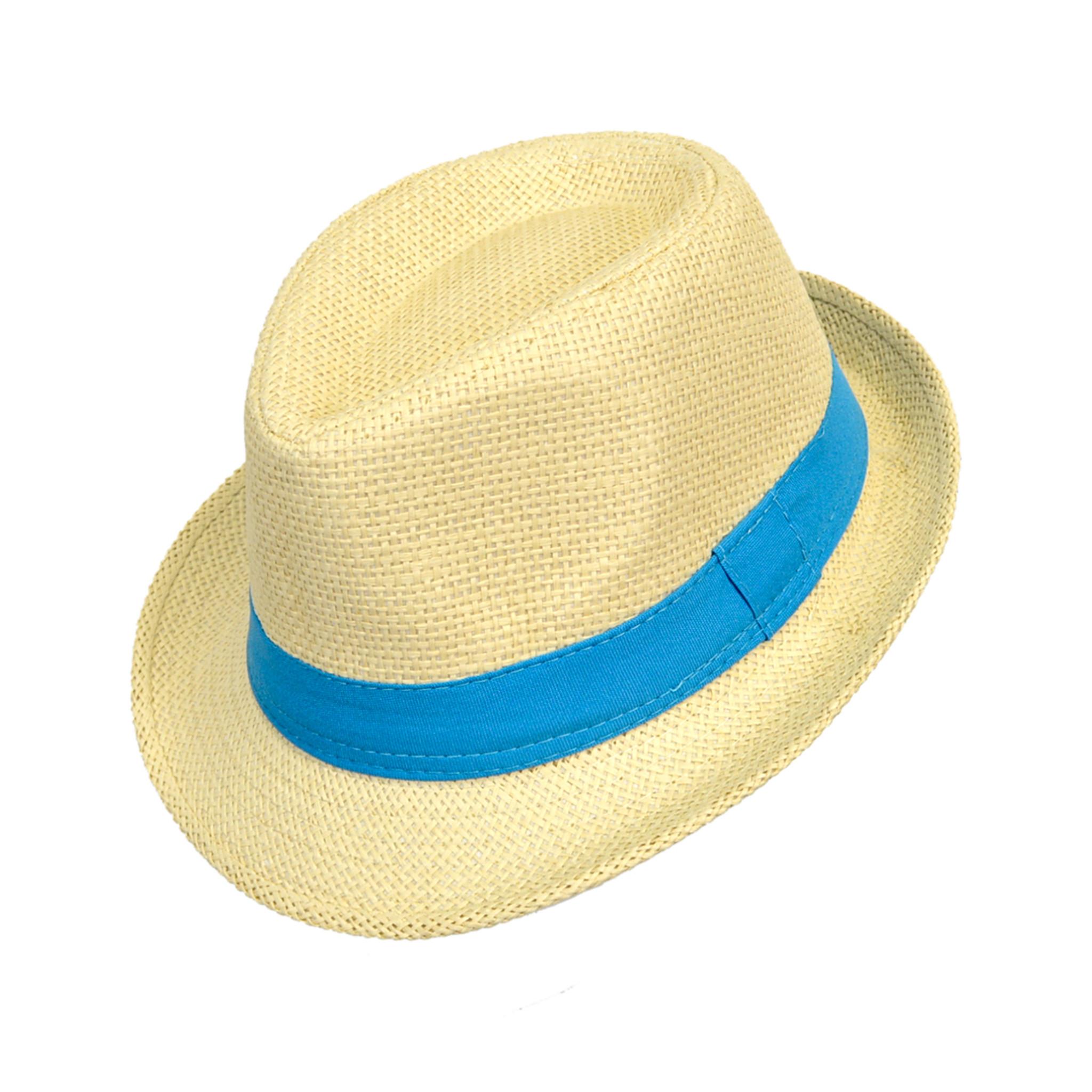 Boys Summer Spring Black /& Cream Fedora Hat BF8776