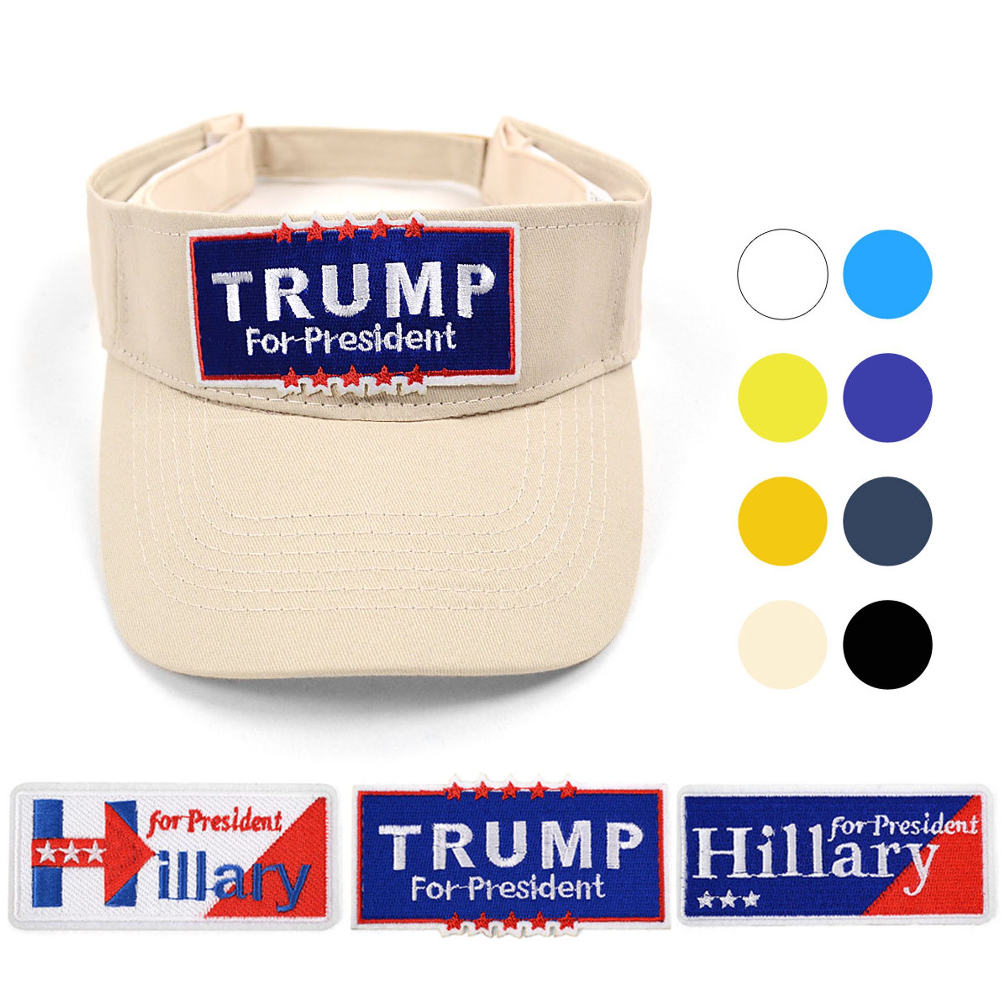 Donald Trump for President 2016 Adjustable Sun Visor Hat