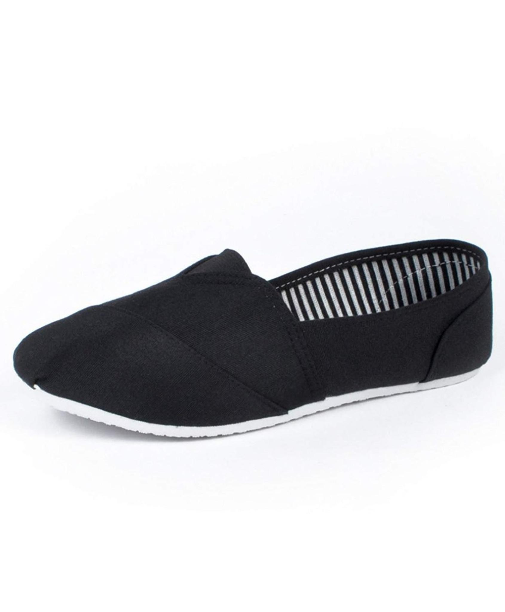 Women's Canvas Flats Slip-On Comfy Shoe
