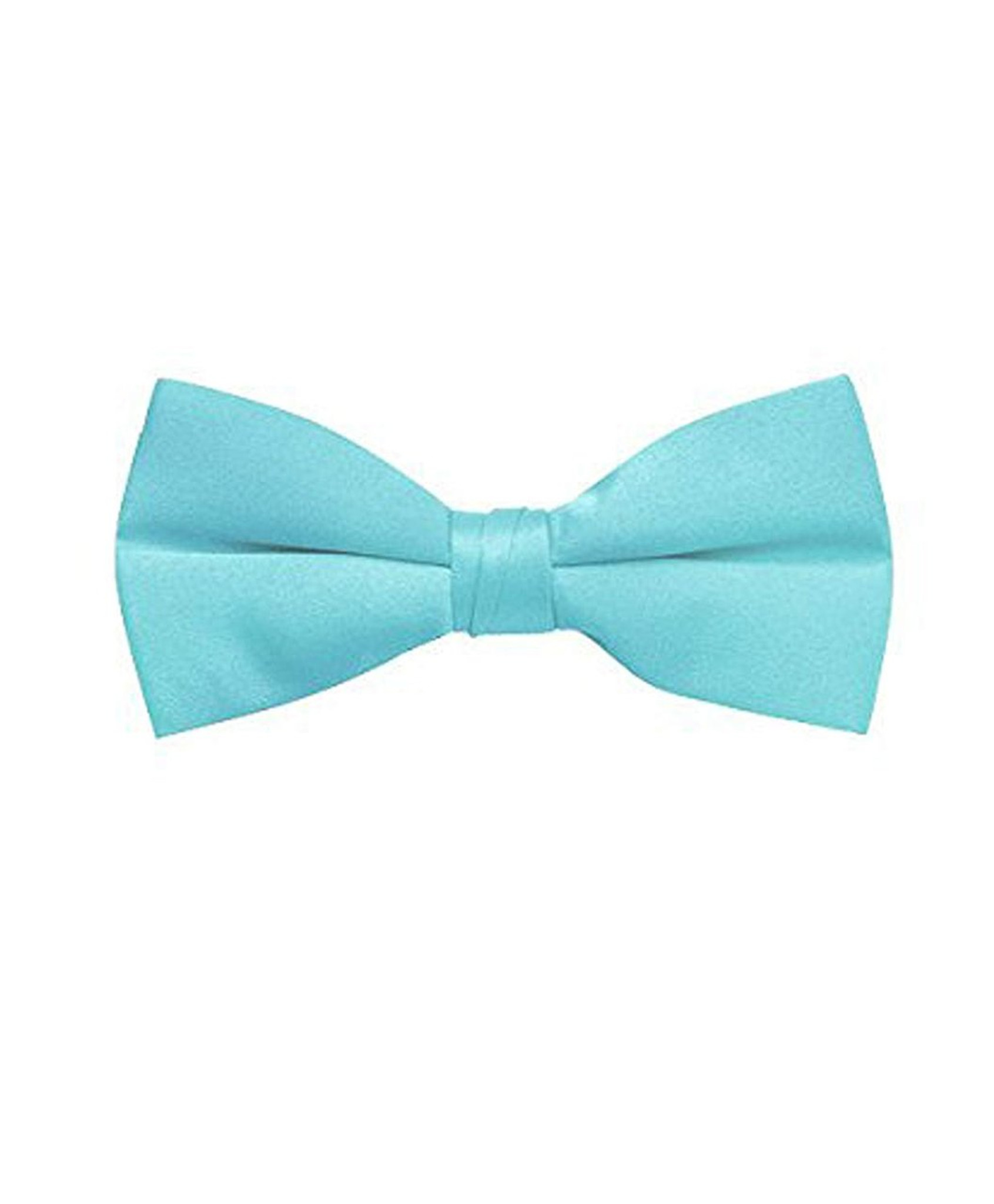 New men/'s pre-tied bow tie set solid 100/% polyester formal wedding teal blue