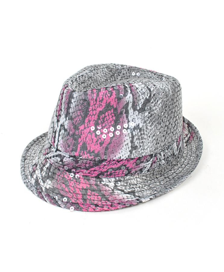 Sequin Fedora Hat 6pc H5624