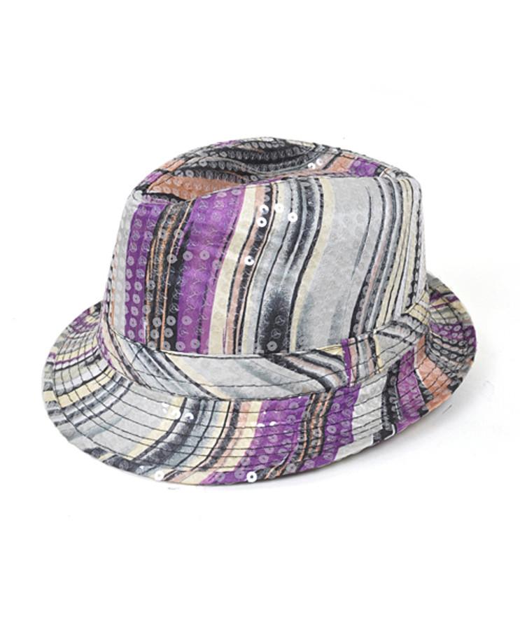 6pc Sequin Fedora Hat H5633