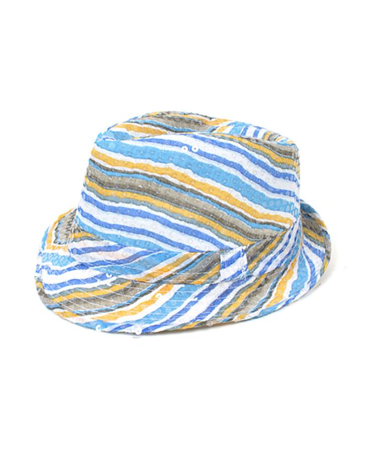 6pc Sequin Fedora Hat H5636