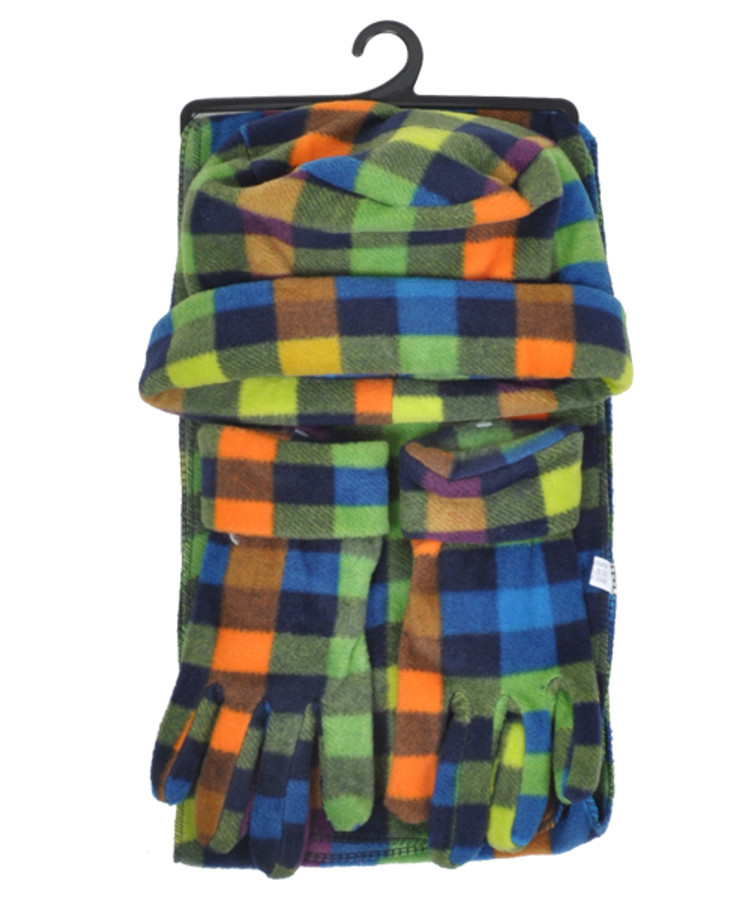 6 Pack Women's Polyester Fleece Plaid Winter Set WSET8050