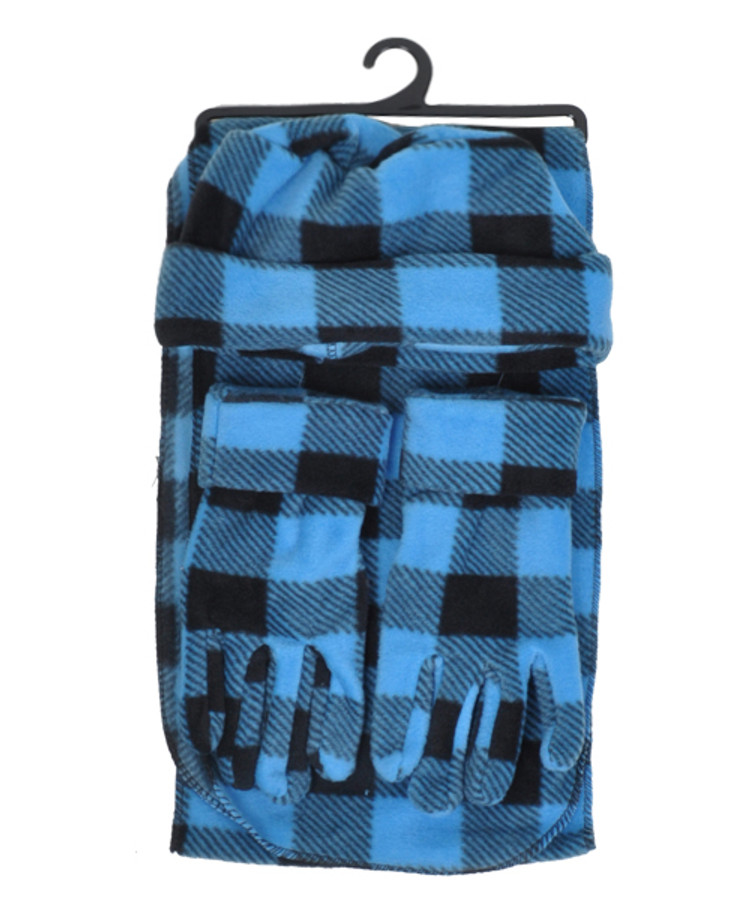 6 Pack Women's Polyester Fleece Plaid Winter Set WSET8020