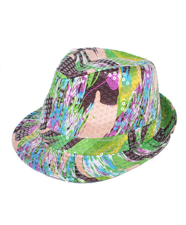 6pc Sequin Fedora Hat H10246579