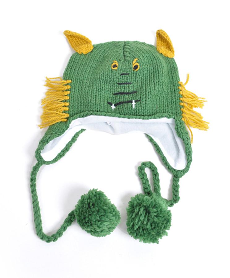 Knit Green Monster Animal Hats - AHN011058