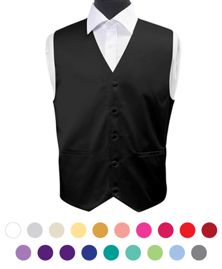 Men's Poly Solid Satin Vest PSV3501
