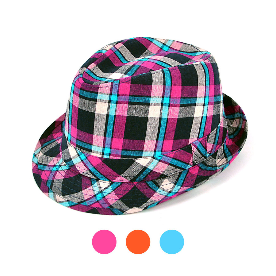 "3pc 1.5"" Brim Fedora Hat H8765F"