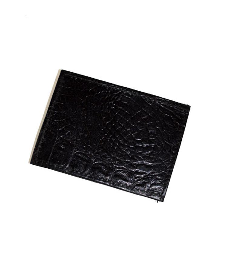 Croco Print Magnetic Money Clip CCGMC45BK