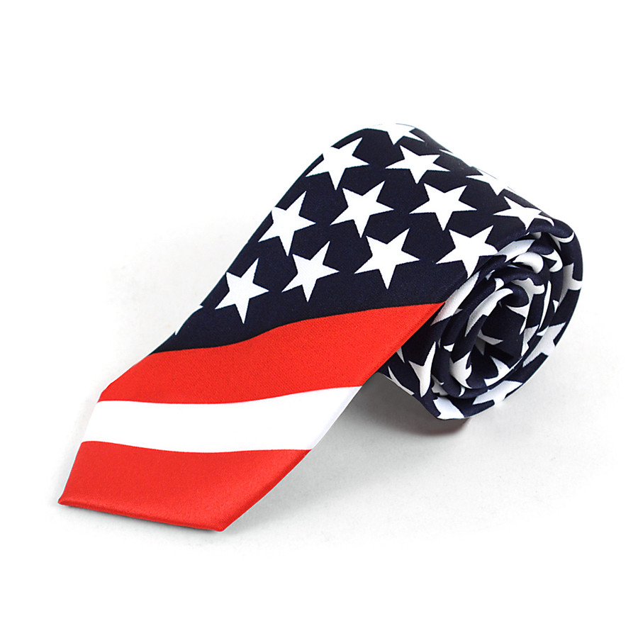 "Unique ""American Flag"" Novelty Tie - NV13129"