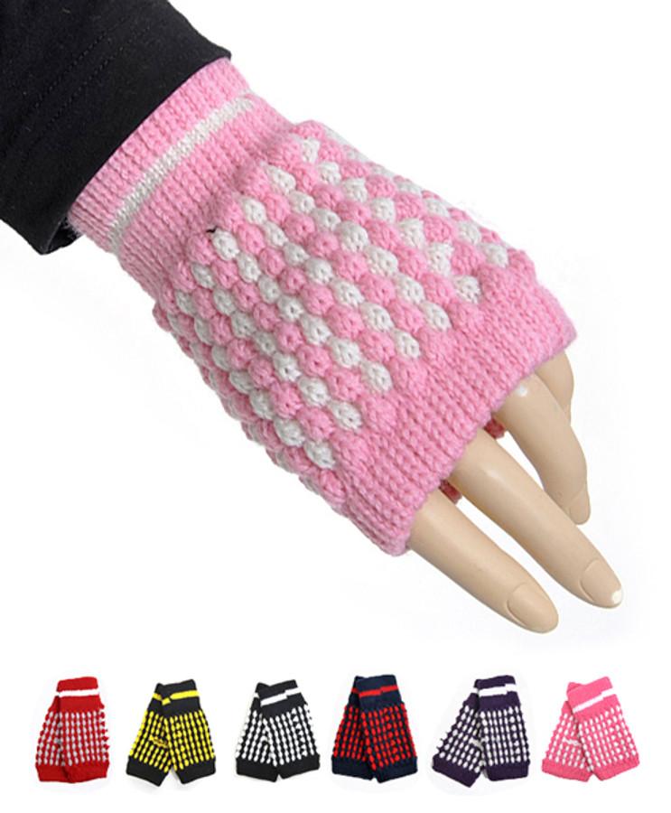 12pc. Prepack Knit Fingerless Gloves GL1302