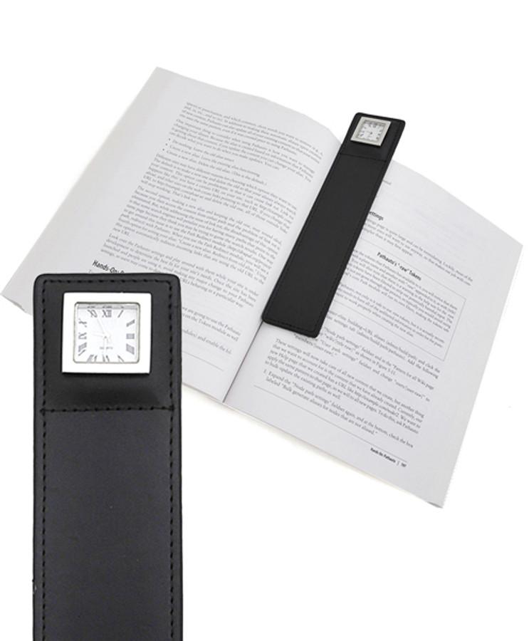 Reading-Time Leather Bookmark Clock BM1000