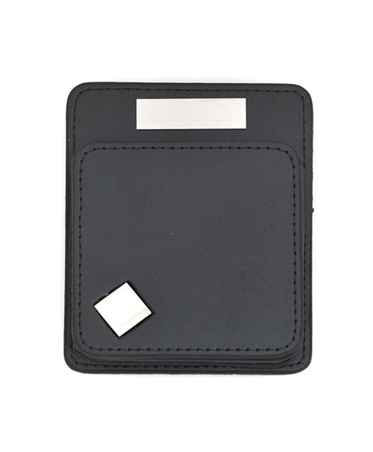 Diamond-Rack Faux Leather Coasters and Holder Set COAST1020