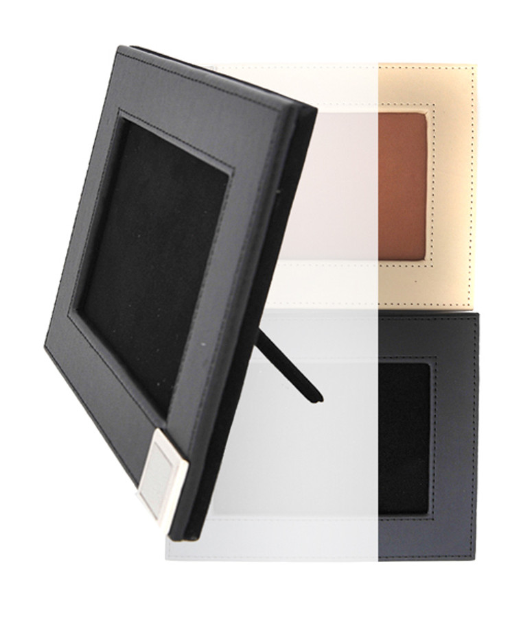 Rustic Design Faux Leather Photo Frame FRM06