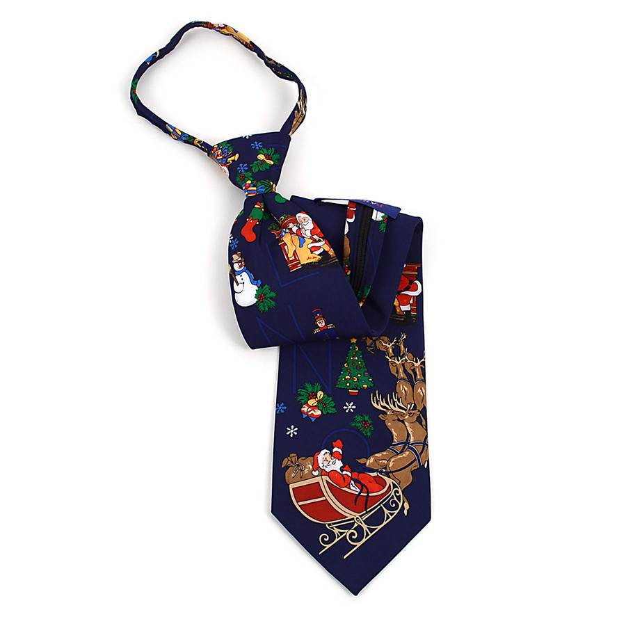 Poly Zipper Christmas Tie PZX4600-NV