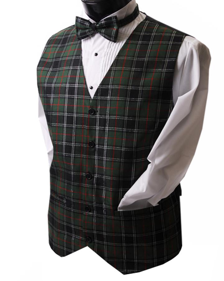 Plaid Poly Woven Vest SCOT4005