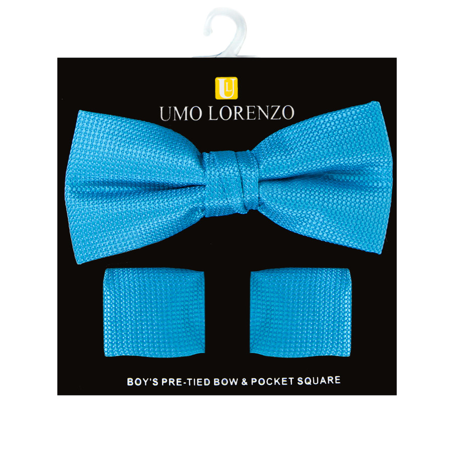Boy's Fancy Bow Tie and Hanky Set - BFTH3031