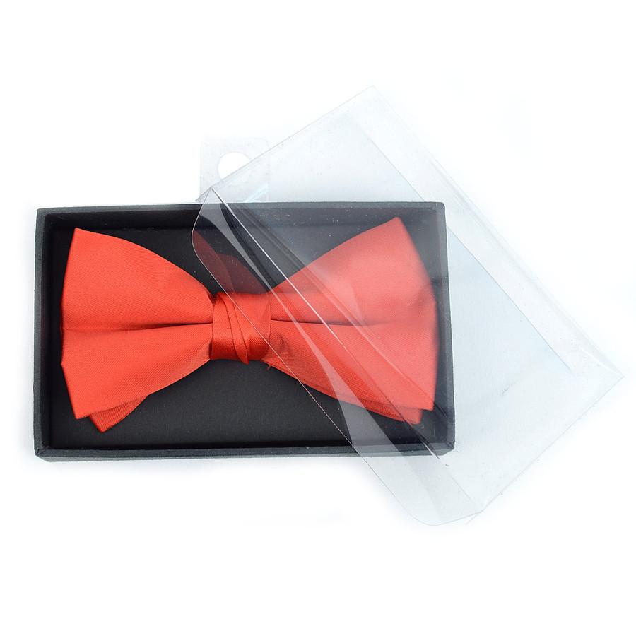 """Men's 2.5"""" Poly Satin Banded Bow Ties BT1301BX"""