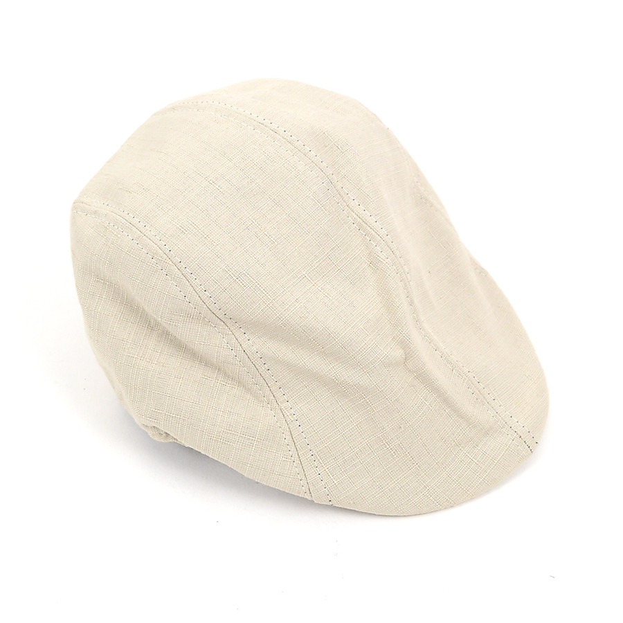6pcs Two Sizes Men's Beige Ivy Hats H0601