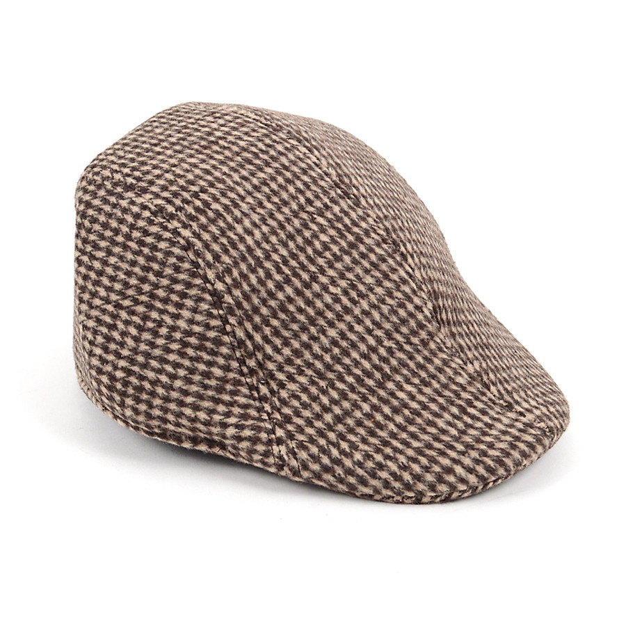 Men's Brown Houndstooth Ivy Hat H5552