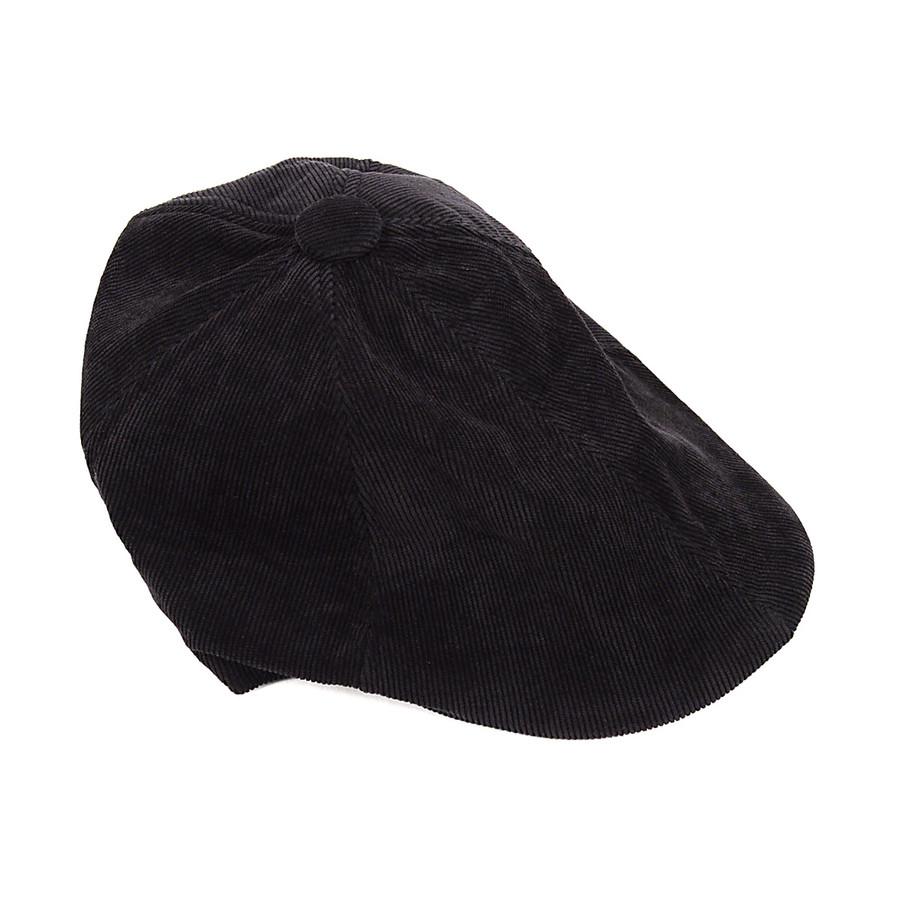 6pc Men's Black Corduroy Ivy Hat HT0335