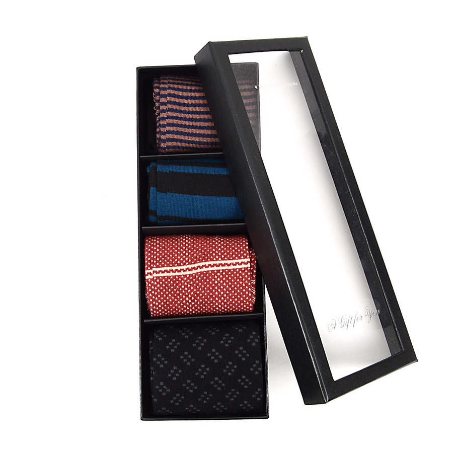 Fancy Multi Colored Socks Gift Box (4 paris in Box) SFGB20