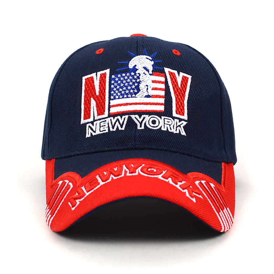 NY Flag Navy Blue Baseball Cap EBC10290