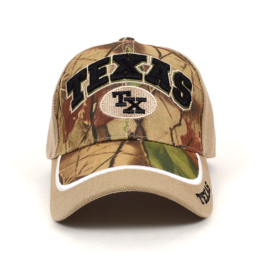 Texas Camo 3D Embroidered Baseball Cap, Hat EBC10294