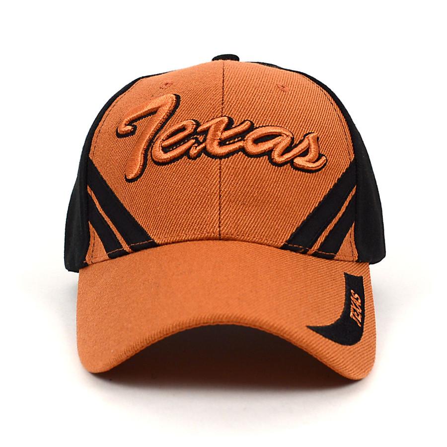 Texas Brown & Black 3D Embroidered Baseball Cap, Hat EBC10304