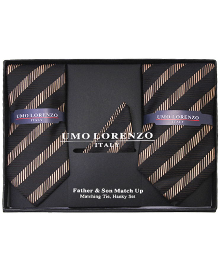 Father & Son Matching Tie & Hanky Set FSTHB-12
