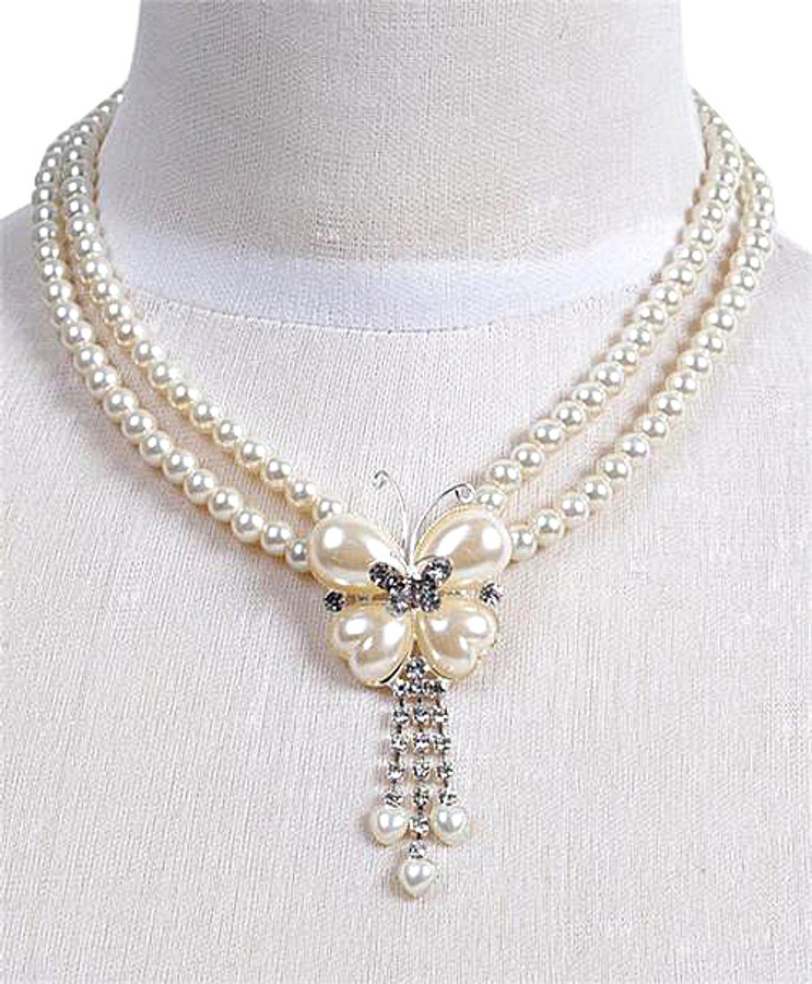 Pendant Necklace and Earrings Set - IMJS0506