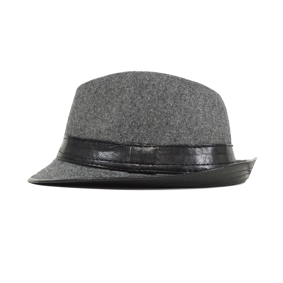 Boy's Gray Fedora Hats BF0297-GRY