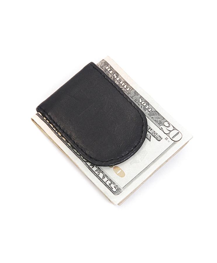 Leather Money Clip MC44BK