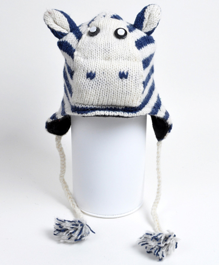 Wool Animal Hats Zebra - AHW002