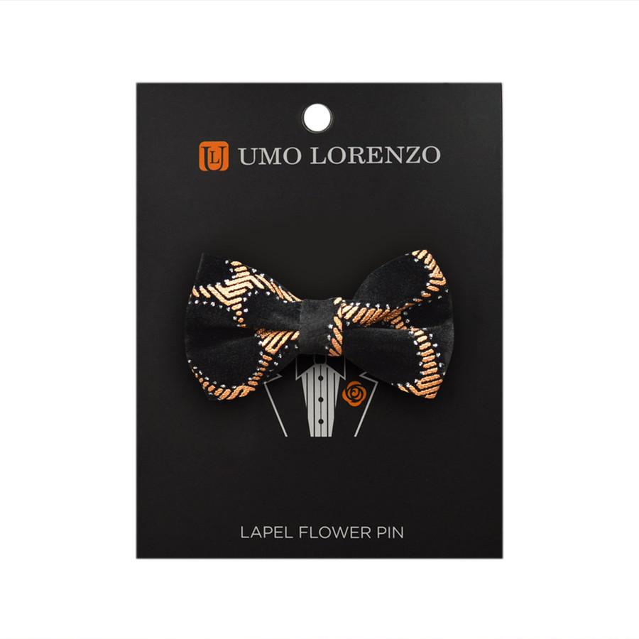 Gold Honey Comb Poly Bow Lapel Pin B10156-GD