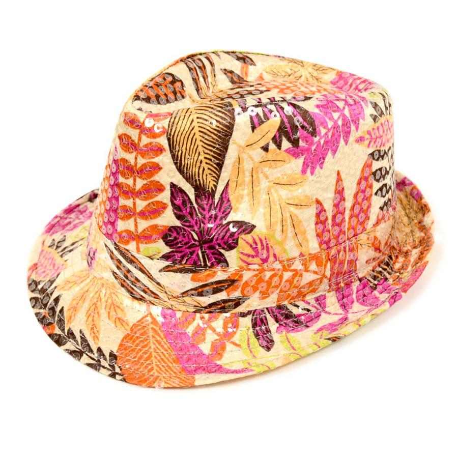 6pc Sequin Fedora Hat H10246576
