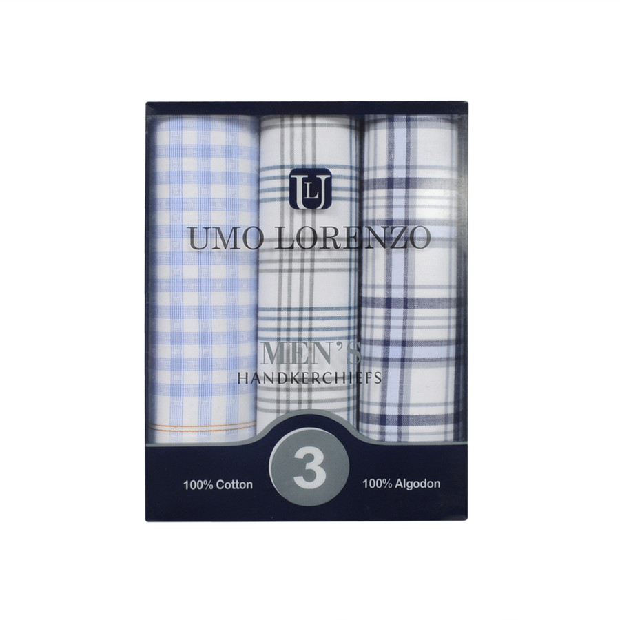Boxed Fancy Cotton Handkerchiefs MFB1513