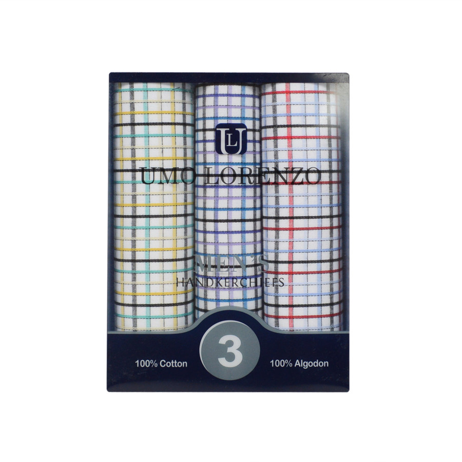 Boxed Fancy Cotton Handkerchiefs MFB1533