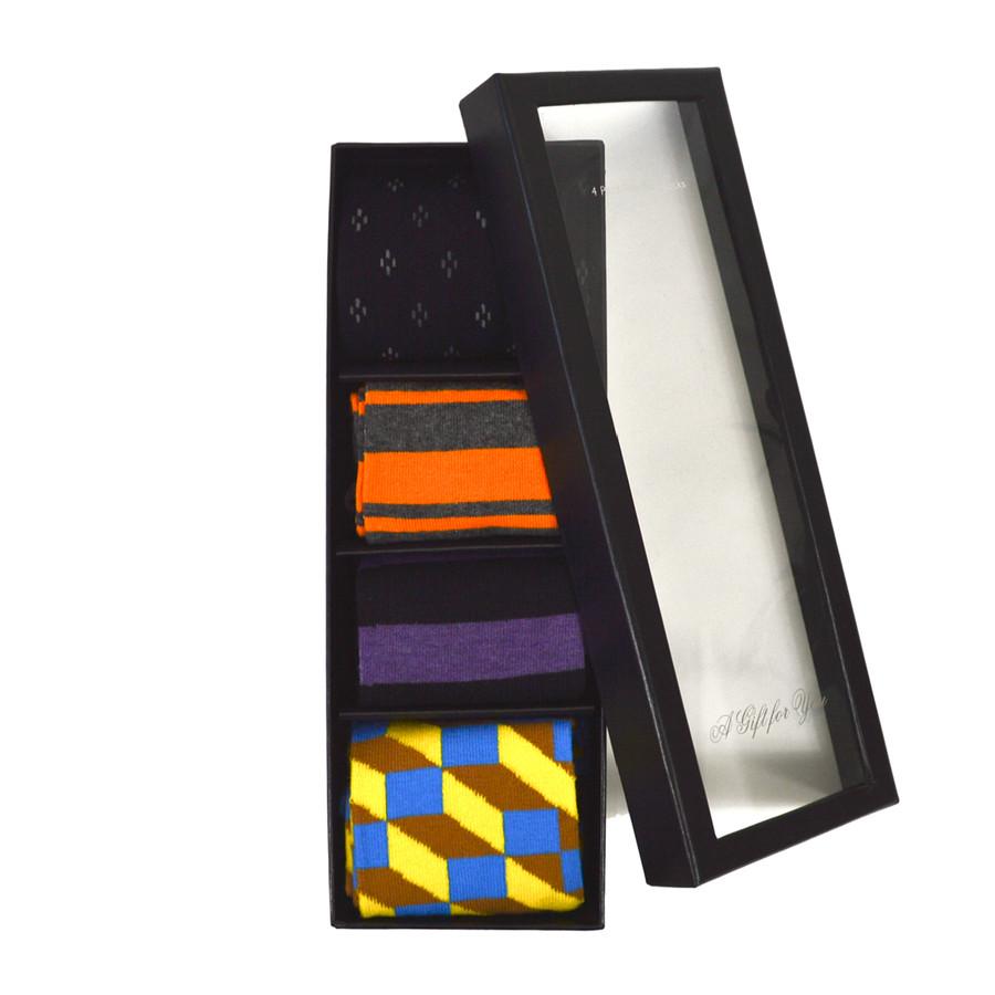 4pairs Fancy Multi Colored Socks Gift Box SFGB01