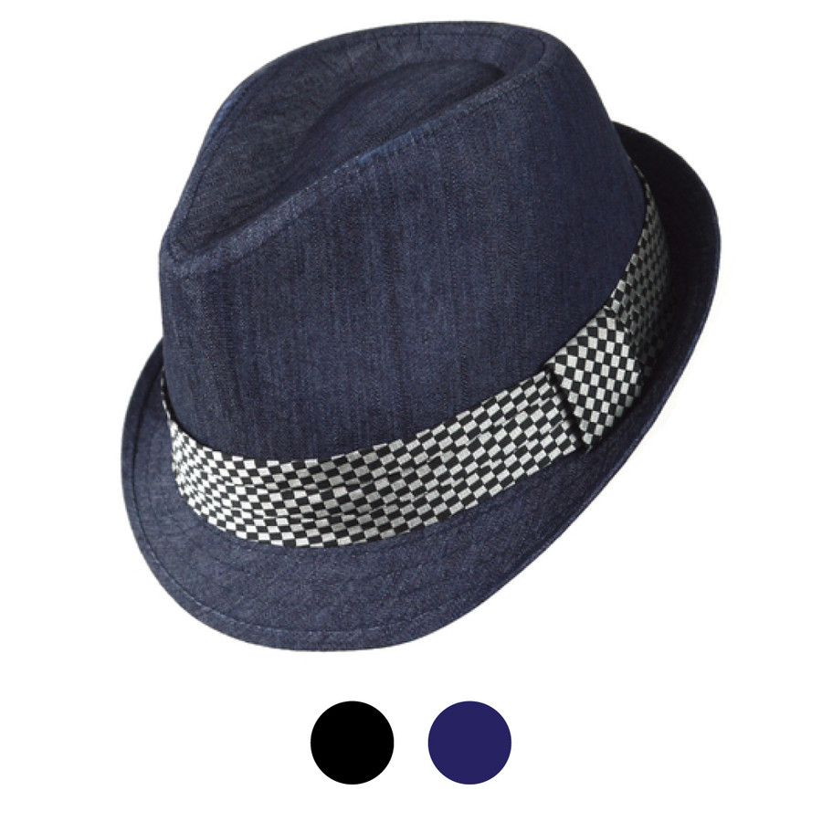 Spring/Summer Poly/Cotton Fedora Hats - H10335