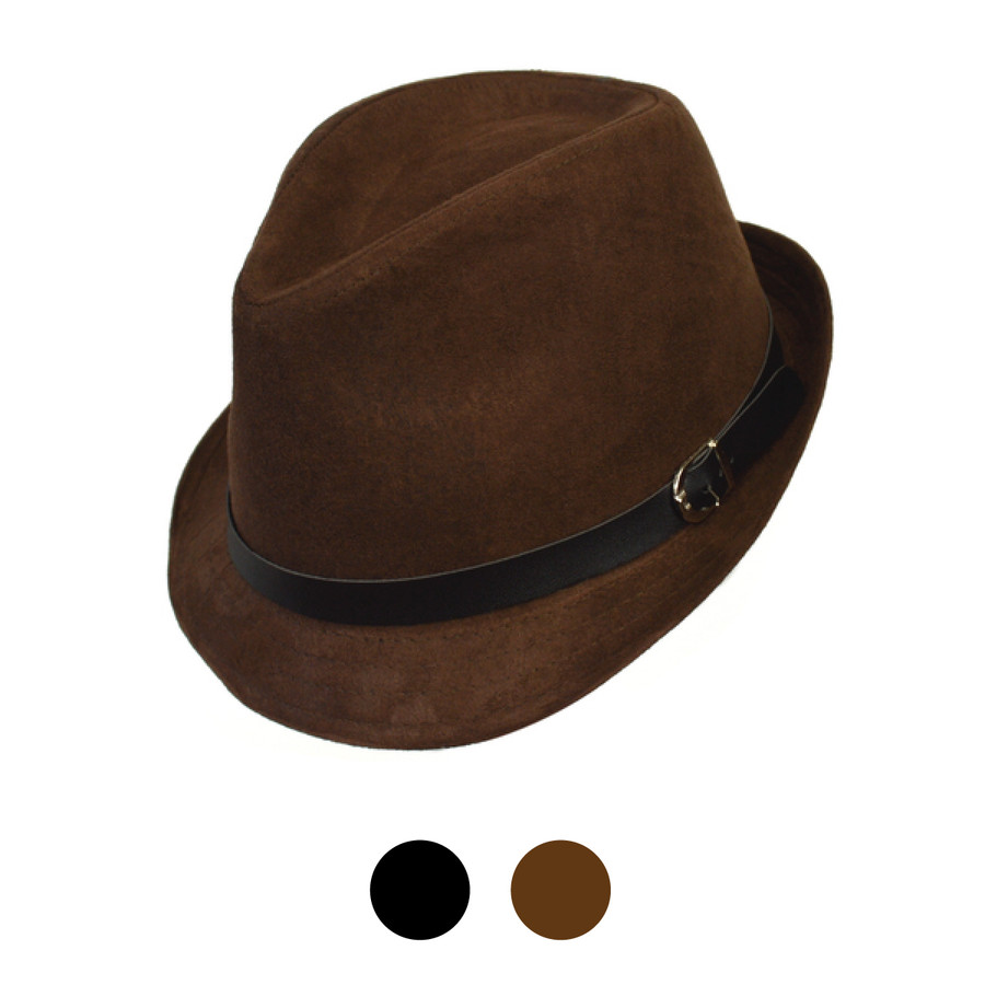 Fall/Winter Poly/Cotton Fedora Hats - H10338