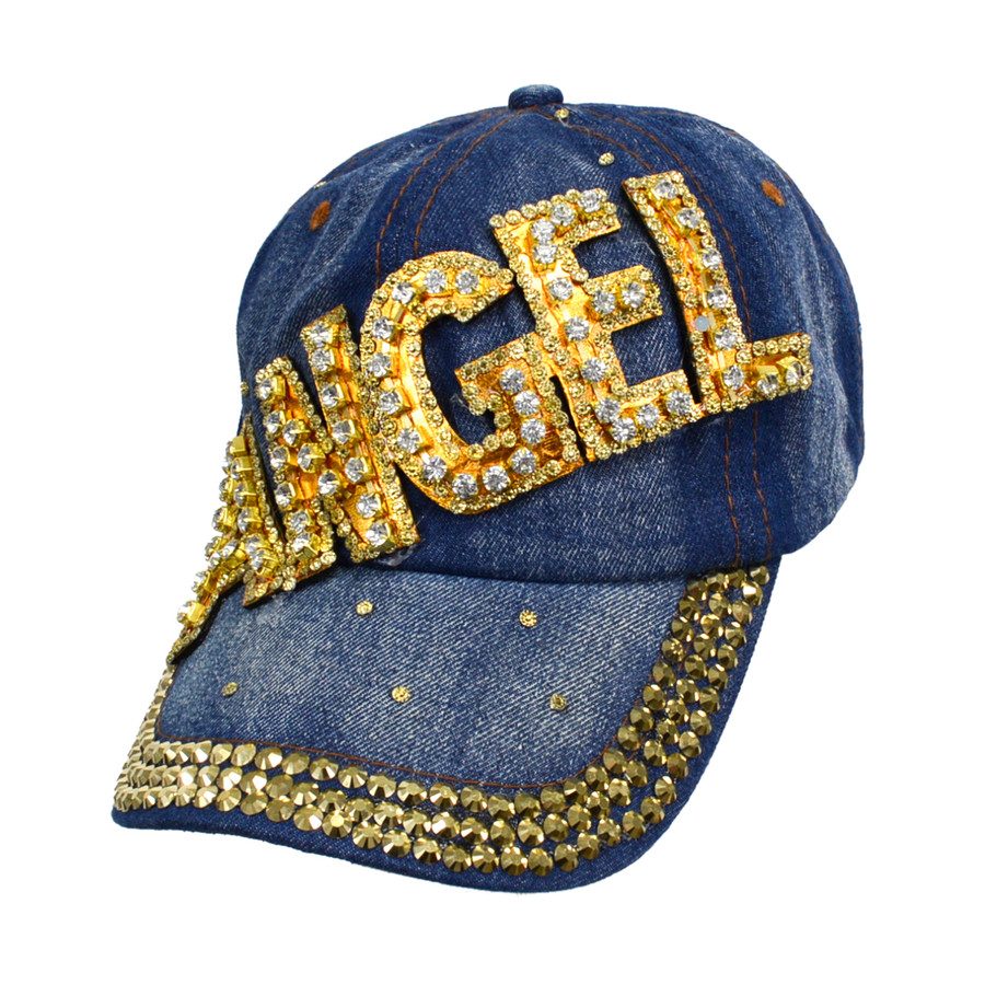"Bling Studs ""Angel"" Denim Cap"