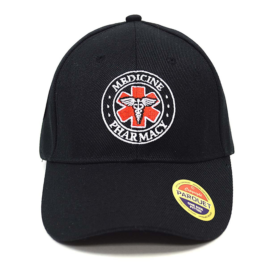 Paramedic Symbol Black Embroidered Baseball Cap
