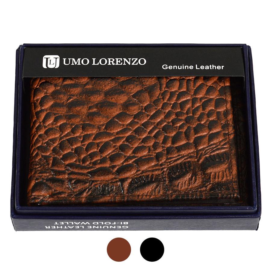 Bi-Fold Genuine Leather Crocodile Wallet MGLW-A14C