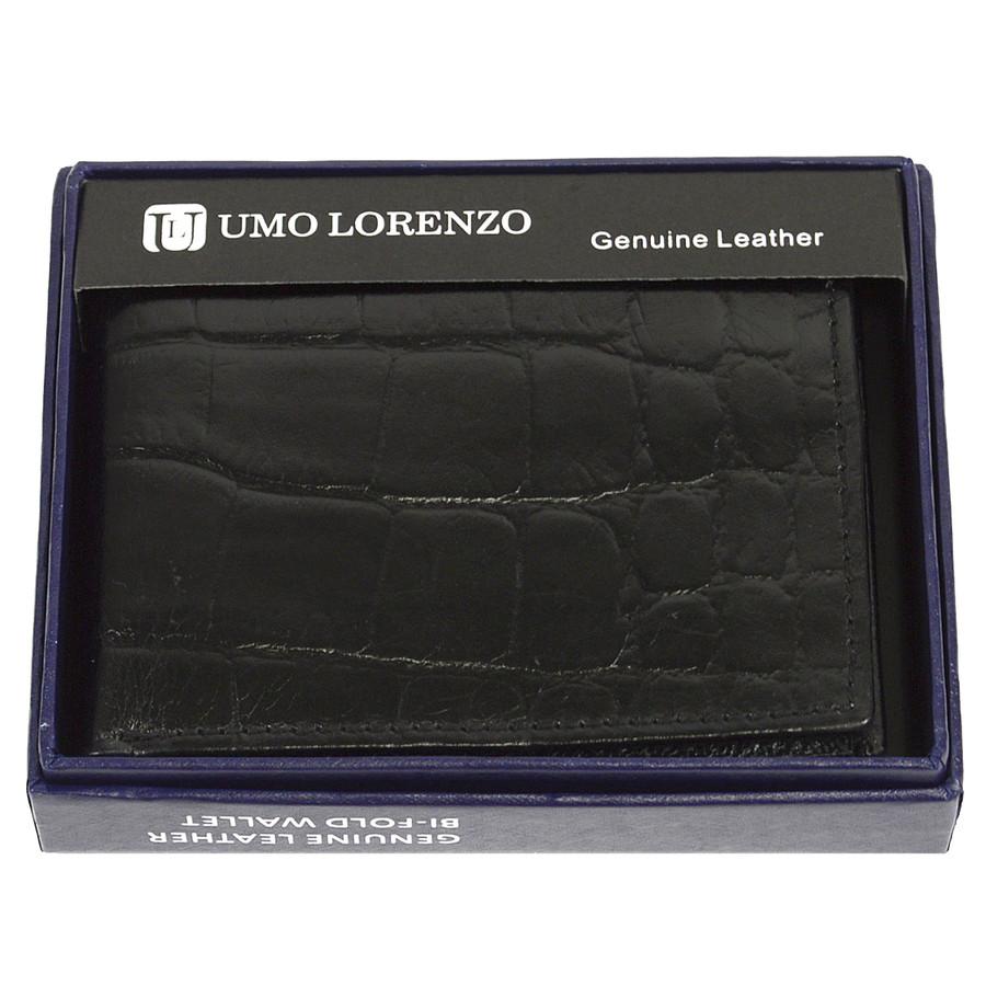 Bi-Fold Genuine Leather Black Wallet CCG786BK