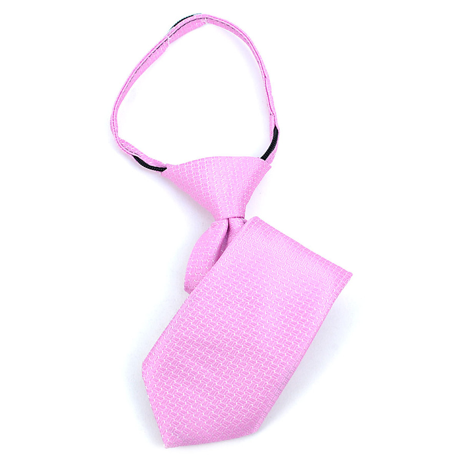 Boy's Pink Geometric/Polka Dot Zipper Tie