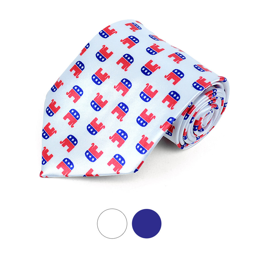 Republican Novelty Polyester Tie