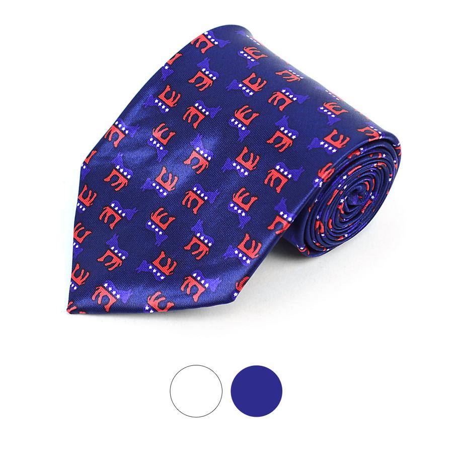 Democrat Donkey Novelty Polyester Tie