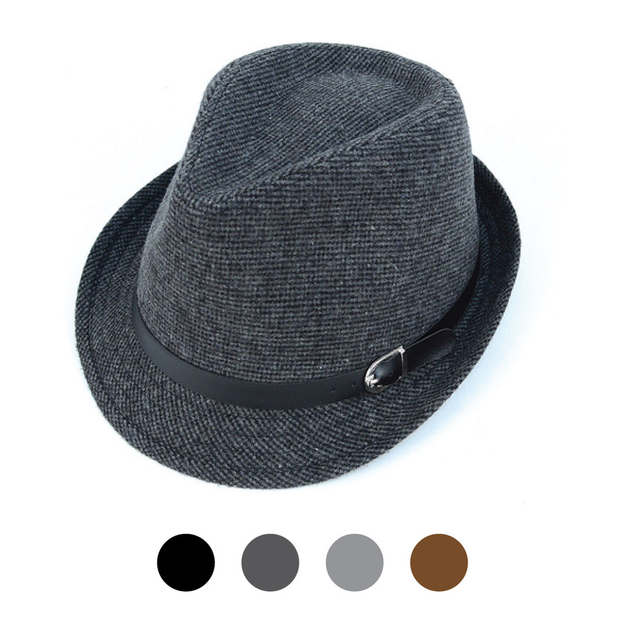 Fall/Winter Poly/Cotton Westend Charcoal Fedora Hat